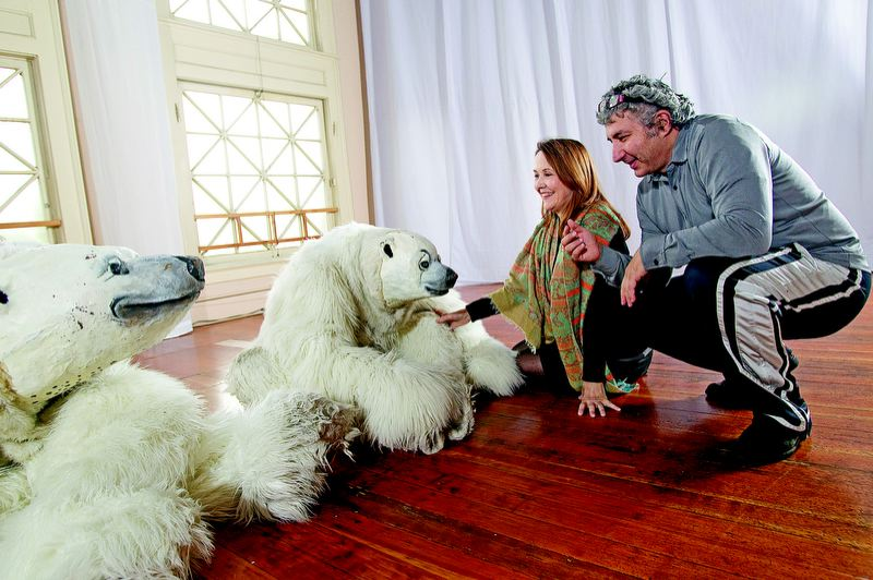 by: TRIBUNE FILE PHOTO: CHRISTOPHER ONSTOTT - Carol Triffle and Jerry Mouawad, Imago Theatre co-founders, have spent more than 30 years perfecting mask theater, but the characters of 'ZooZoo,' including popular polar bears, will be retired after local shows starting Dec. 7 and an international tour.