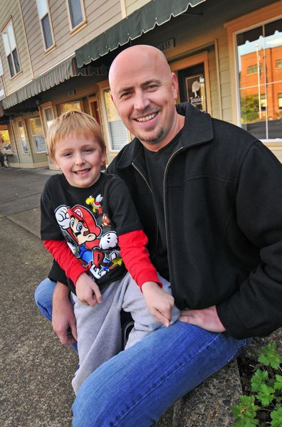 by: VERN UYETAKE - West Linn resident Mike Thurman loves getting off the road so he can spend time with his kindergarten-aged son Henry.
