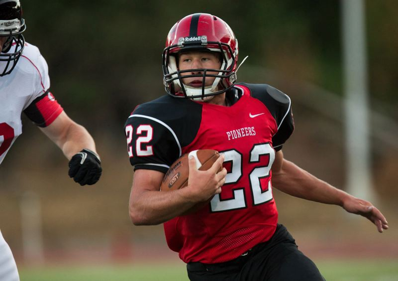 by: CHRISTOPHER ONSTOTT - Three Rivers League coaches have honored Oregon City senior Mitchell Thompson as their 2012 Offensive Player of the Year. Thompson rushed for close to 2,200 yards in 10 games this season and he rushed for at least 100 yards in every game.