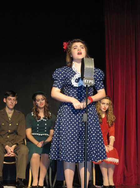 by: SUBMITTED PHOTO - Lake Oswegos Celeste Spangler is a featured performer in Oregon Childrens Theatres Young Professional production of A World War II Radio Christmas.