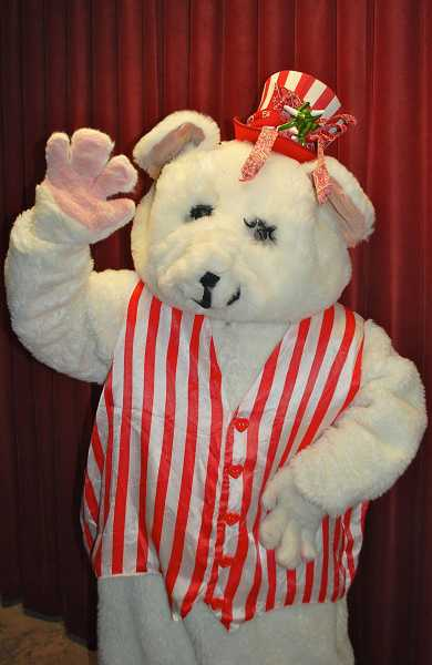 by: SUBMITTED PHOTO: LAKEWOOD THEATRE COMPANY - The Peppermint Bear will appear in his new show at Lakewood Theatre Company on Dec. 8, 15 and 22.