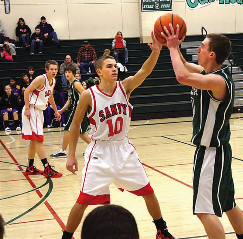 by: FILE PHOTO - Jacob Groom is a senior on Sandys basketball team who will help led the fast-break offense.