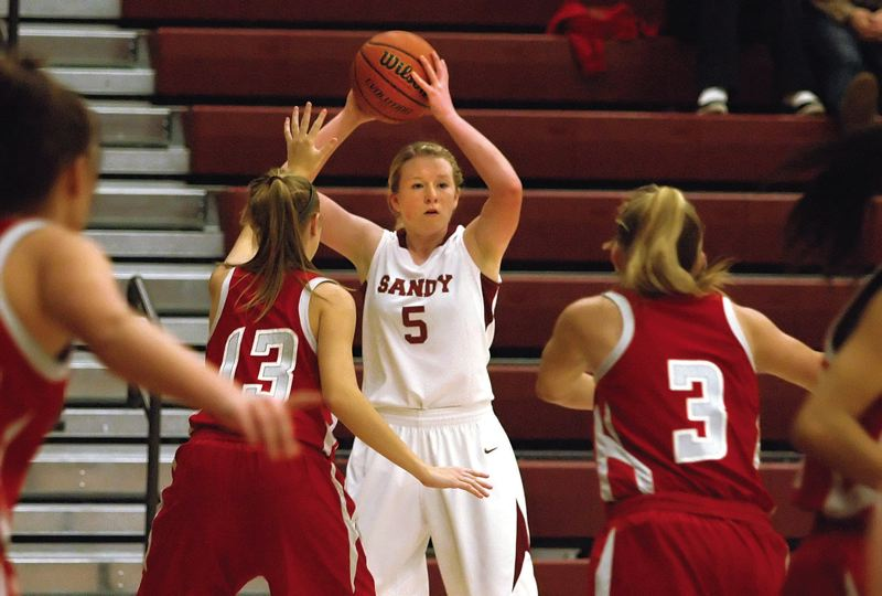 by: POST PHOTO: KRISTOPHER ANDERSON  - Sophomore Molly Nutt finished with a team-high 10 points in Sandys 47-37 loss to the David Douglas Scots last Saturday in the final game of the Sandy Tournament.