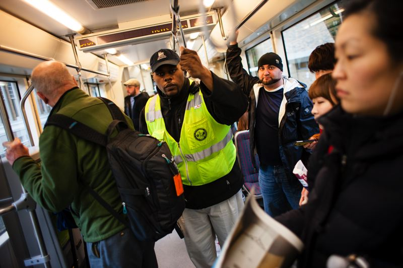 by: PORTLAND TRIBUNE: CHRISTOPHER ONSTOTTL - Since Portland Streetcar Officer Ticole Waller began checking for fares in September, streetcar riders have been changing their habits and paying up.