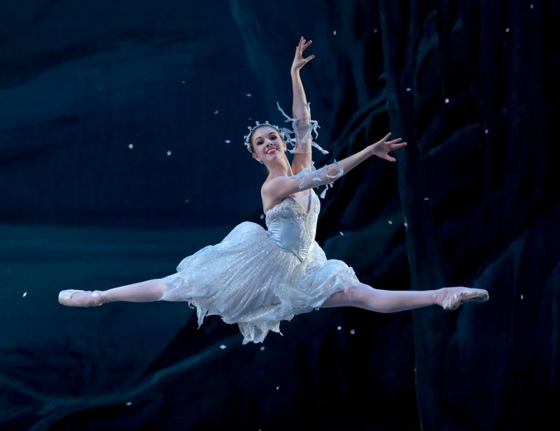 by: COURTESY OF BLAINE TRUITT COVERT/OBT - 'The Nutcracker' hits the stage Dec. 8 to 23 at Keller Auditorium, in Christopher Stowell's final show as artistic director. Stowell has been a big proponent of all of George Balanchine's work. Here, Kelsie Nobriga performs during the 2011 production.