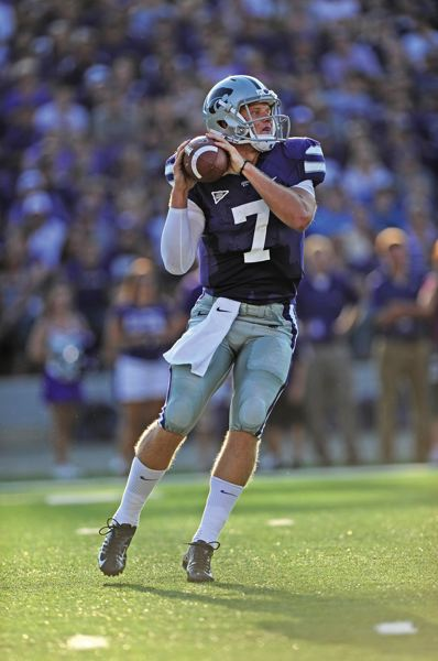 by: COURTESY OF KANSAS STATE UNIVERSITY - Quarterback Collin Klein has been a dual threat for Kansas State, which makes him the key for the Wildcats's offense as they prepare for their Jan. 3 Fiesta Bowl match with Oregon at Glendale, Ariz.
