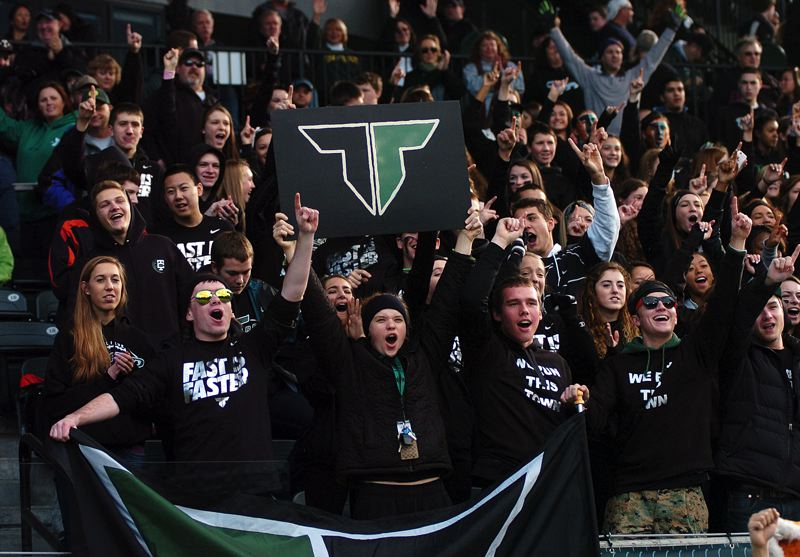 by: DAN BROOD - TIGER FANS -- The Tigard High School football team received strong support during its state playoff semifinal game on Saturday.