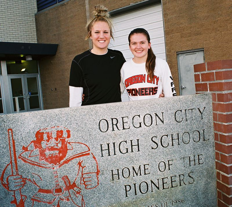 by: JOHN DENNY - Oregon City senior leaders Johanna Paine (left) and Montana Walters have not yet been a part of a state championship team and they plan on changing that this season.