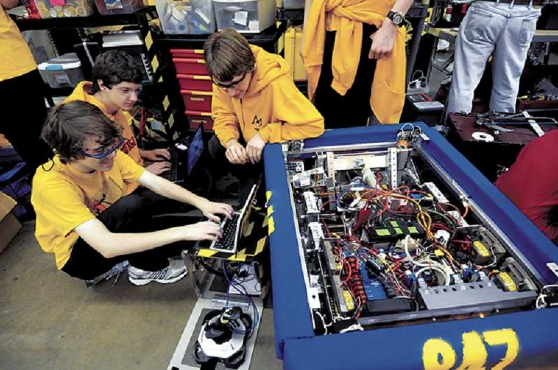 by: SUBMITTED PHOTO  - FIRST Robotics teams will go on to compete at the Autodesk Oregon regional competition in Portland.
