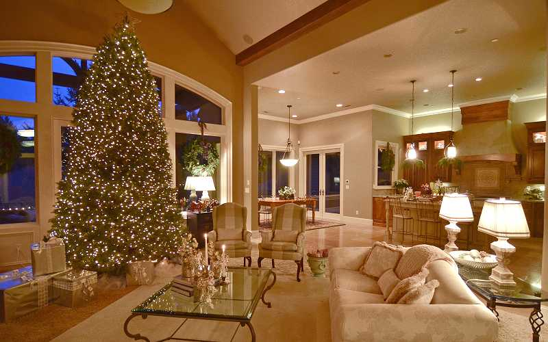 Interior designer Arlene Lord turned Peggy Cvach's West Linn home into a winter wonderland.