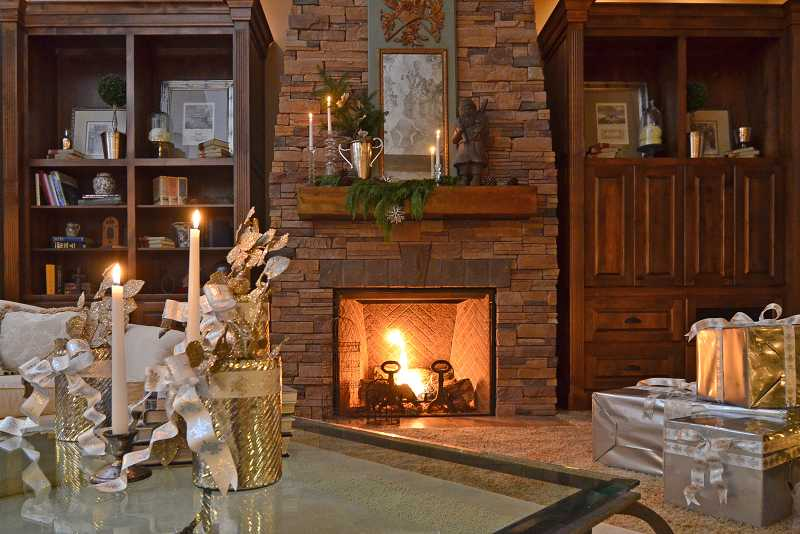 Peggy Cvach's home is Christmas cozy meets classic elegance.