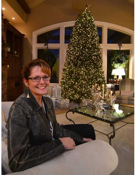 Arlene Lord designed a playhouse for Peggy Cvach's grandchildren and decorate it for Christmas.