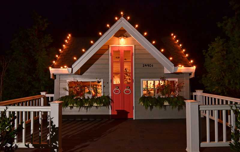 Arlene Lord spent four days decorating her client's home and grandchildren's playhouse for Christmas.