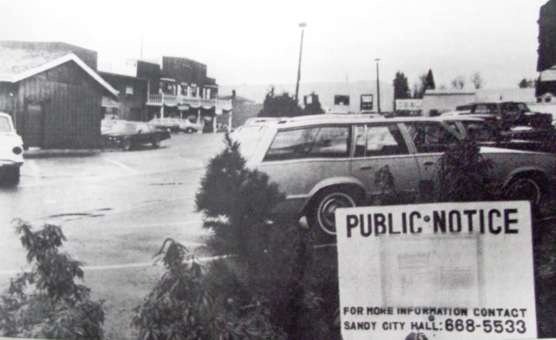by: ARCHIVE PHOTO - The Heritage Square parking lot was in the middle of a dispute between property owners and the city of Sandy in 1982. ARCHIVE PHOTO