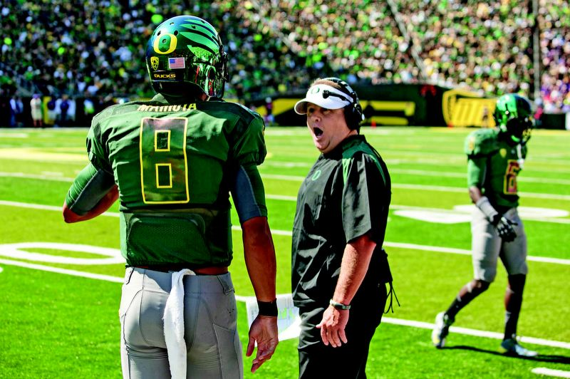 by: TRIBUNE FILE PHOTO: CHRISTOPHER ONSTOTT - Who wouldn't love to hear Oregon coach Chip Kelly say what's really on his mind? Such as: 'I am getting a little bored winning all these games so easily.'