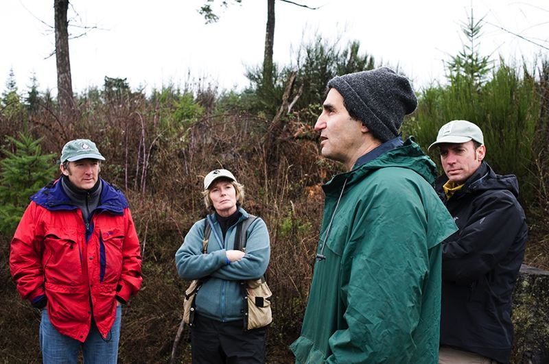 by: HILLSBORO TRIBUNE: FILE PHOTO - Metro officials tour the Chehalem Ridge Natural Area in January 2010, shortly after Metro bought it.