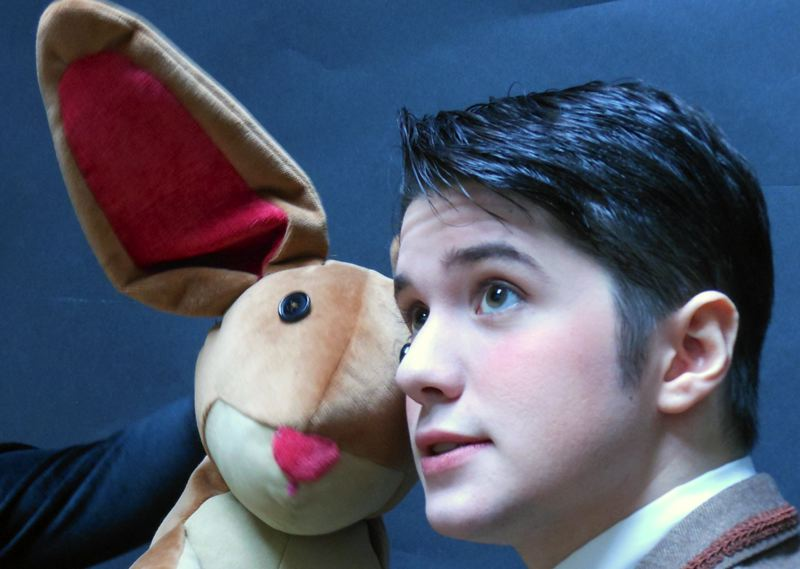by: COURTESY PHOTO: BAG & BAGGAGE -  Branden McFarland stars as 'The Boy' with The Velveteen Rabbit (from Tears of Joy Theatre in Portland) in Bag&Baggage´s holiday production.  B