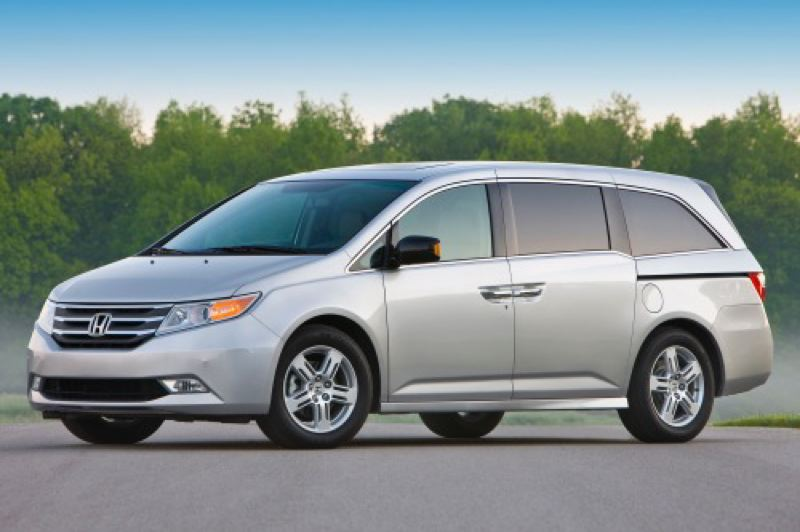 by: AMERICAN HONDA MOTOR COMPANY - Honda's 'lightning bolt' styling sets the Odyssey apart from the competition.