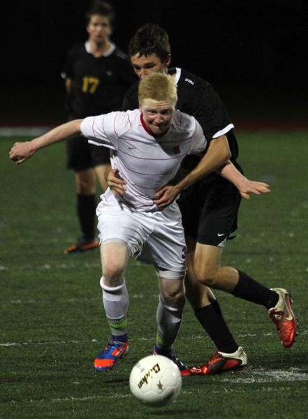 by: JONATHAN HOUSE - La Salle senior playmaker David Lillie, pictured on the attack in the Falcons 2012 state final with Philomath, proved tough to stop this fall. The states Class 4A high school coaches have honored Lillie as the Class 4A boys soccer Player of the Year.