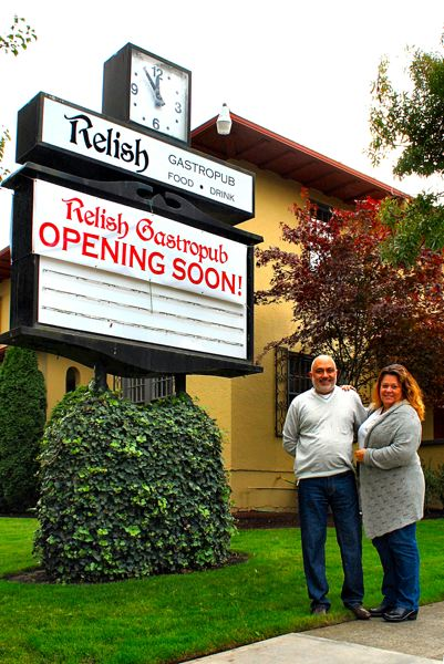 "by: PETER KORCHNAK - Akhil and Marla Kapoor are set to open the new €sˇÃ""úRelish Gastropub€sˇÃ""Ã1 restaurant on S.E. Milwaukie Avenue in mid-January."