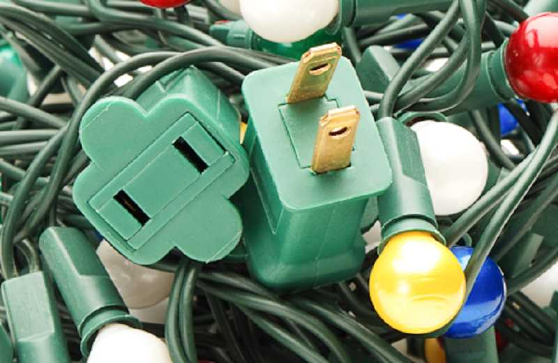 by: SUBMITTED PHOTO  - Maintain your holiday lights. Inspect holiday lights each year for frayed wires, bare spots, and broken or cracked sockets.