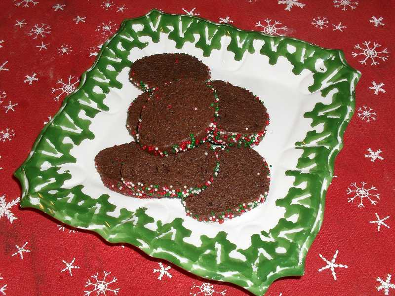 by: REVIEW PHOTO: BARB RANDALL - Barb Randall recently had a cookie baking marathon. She made more than 13 dozen cookies to be shared over the holiday season. Pictured are the Chocolate-Black Pepper cookies, the recipe for which is shared today.
