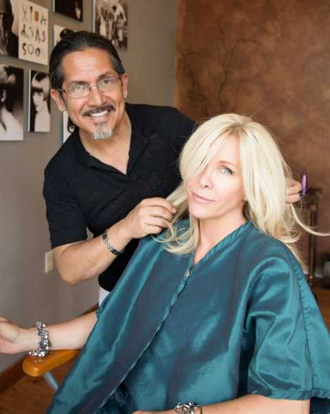 by: SUBMITTED PHOTO  - Victor Hugo cuts Dagmar Gewiese's hair at his newest salon, Victor Hugo: New Millennium of Hair on Pilkington Road in Lake Oswego.