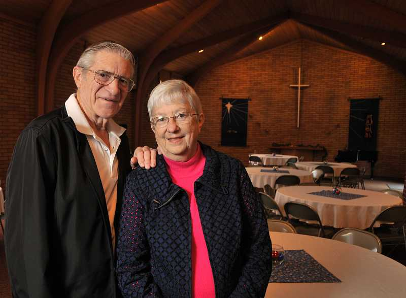 by: VERN UYETAKE - Stan and Julie Schwabauer will celebrate their 15th baptized family member at West Linn Lutheran Church on Jan. 13.