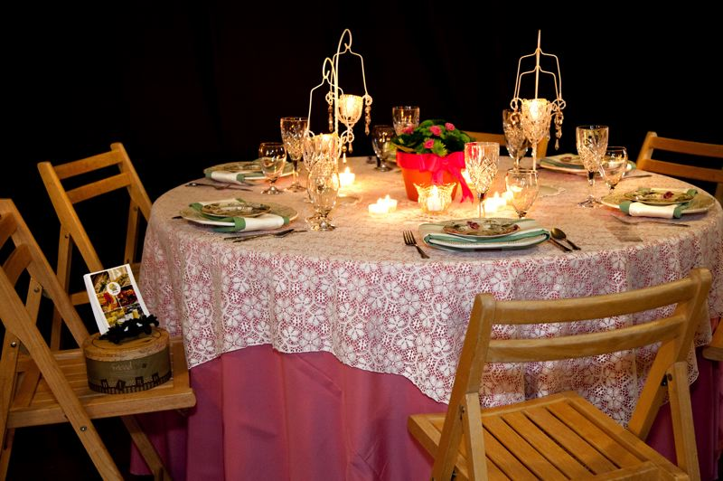 by: CONTRIBUTED PHOTO: BECKY NERPEL, STUDIO 623 PHOTOGRAPHY - Clackamas-based Barclay Events Rentals set an inspiration table at last years show and will return this year as sponsor.
