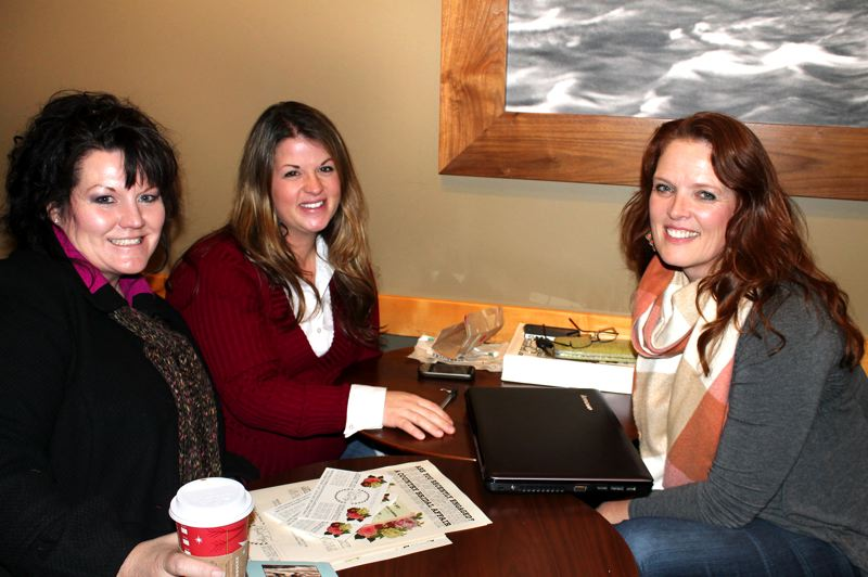 by: OUTLOOK PHOTO: ANNE ENDICOTT - Cindy Boggs, from left, Becky Nerpel and Donna Cole will link brides with local wedding vendors at A Country Bridal Affair, Saturday, Jan. 5 in Boring.