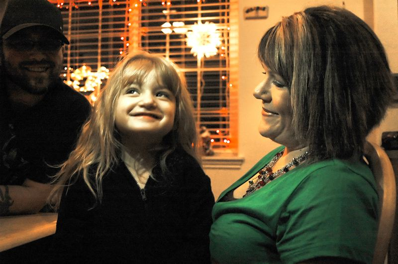 by: NEWS PHOTO: SCOTT JORGENSEN -  Heidi Lowry enjoys a moment with her 4-year-old daughter, Myiah, who lives with Rett Syndrome, one of the most extreme forms of autism.  NEWS PHOTO:  SCOTT JORGENSEN