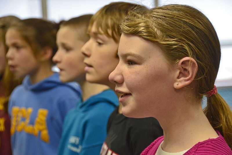 by: TIDINGS PHOTO: VERN UYETAKE  - Stafford choir will join choirs across Oregon in February.