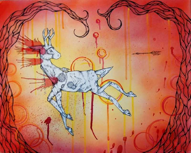 by: SUBMITTED PHOTO  - Arianna Hall's piece, 'Robo Deer.'