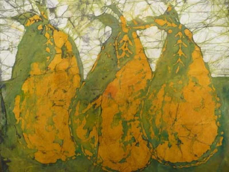 by: SUBMITTED PHOTO - Abi Tudorache's batik, 'Pears.'