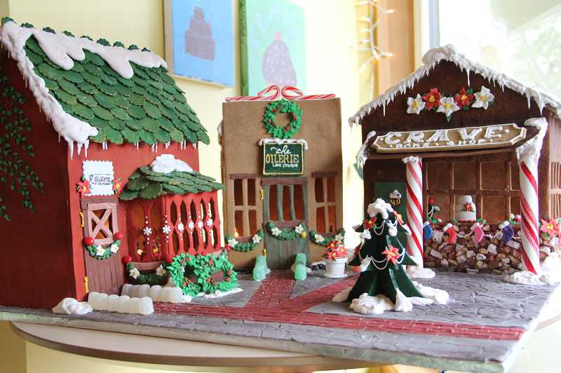 by: SUBMITTED PHOTO: JAMIE INGLIS - This gingerbread house at Crave Bake Shop will be a sure contender for top honors for the Lake Oswego third annual Gingerbread Competition.
