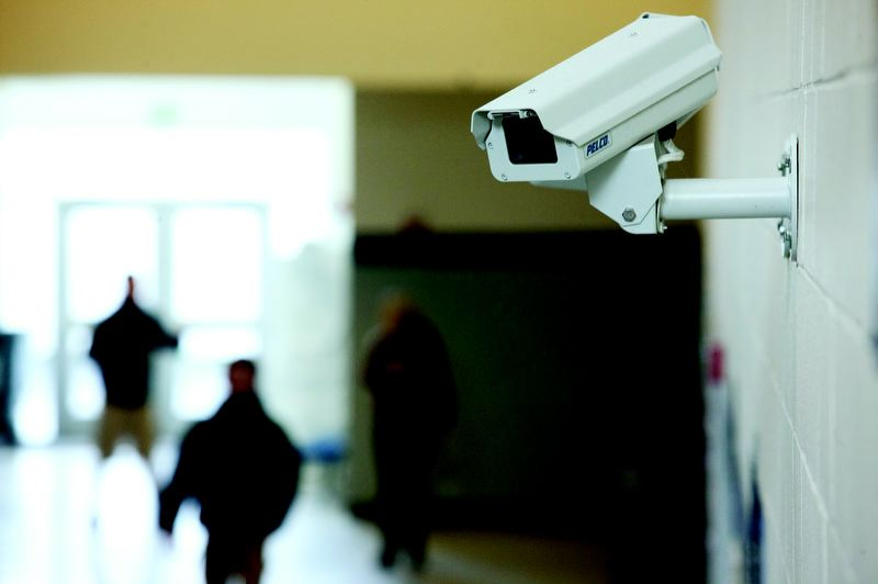 by: TRIBUNE PHOTO: CHRISTOPHER ONSTOTT - Gresham High School has 65 surveillance cameras monitored by an armed Gresham police officer stationed at the school.