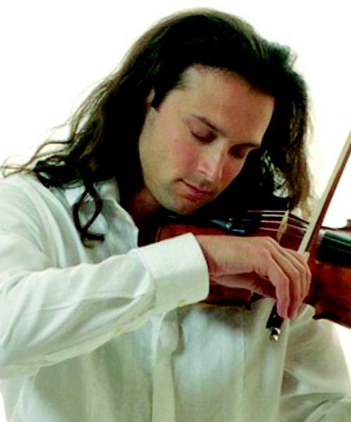 by: COURTESY OF AARON MEYER - Portland violinist Aaron Meyer has been rockin' the Christmas concerts for the past 12 years; he'll do them again Dec. 21-22.