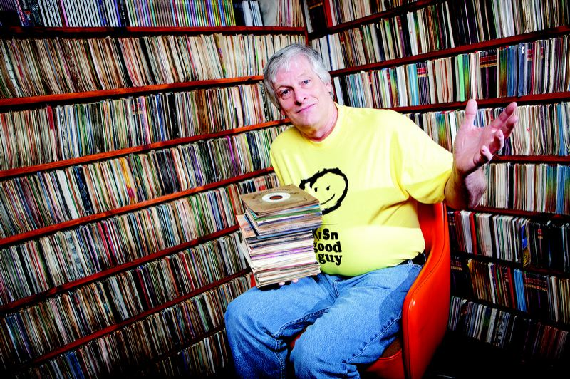 by: TRIBUNE FILE PHOTO: CHRISTOPHER ONSTOTT - Maybe the main man behind the establishment and success of KISN Internet radio has been 'Dirty Dave The Record Slave,' who hosts the radio station in his basement, amid his collection of 100,000 records. He's recovering after chemotherapy and radiation for tongue and lymph node cancer.