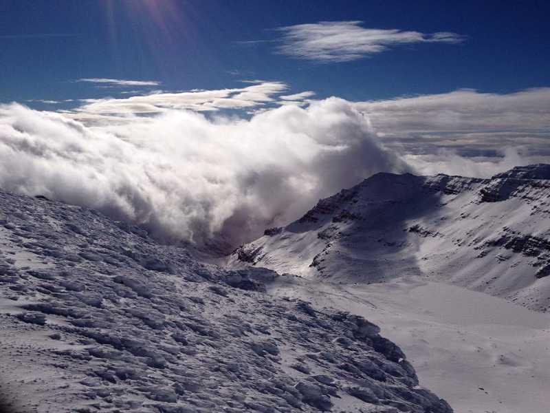 by: BRANDON SEAVER - Steens Mountain, photo taken by Brandon Seaver after being rescued.