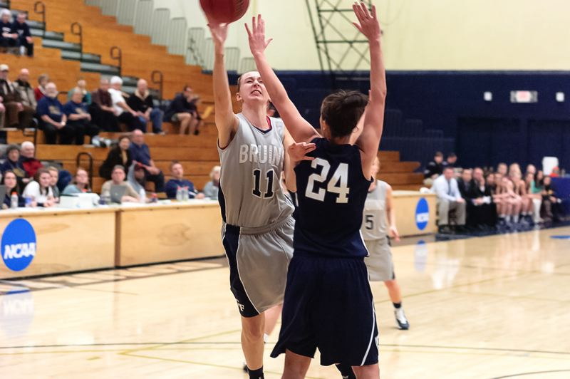 by: DAVID HANSEN - George Fox sophomore Megan Hays (11) goes on the attack in a Dec. 7 game with Concordia. The La Salle Prep graduate starred for the Bruins in a recent game with Azusa Pacific, scoring a career-high 21 points and collecting nine rebounds in a 68-65 upset.
