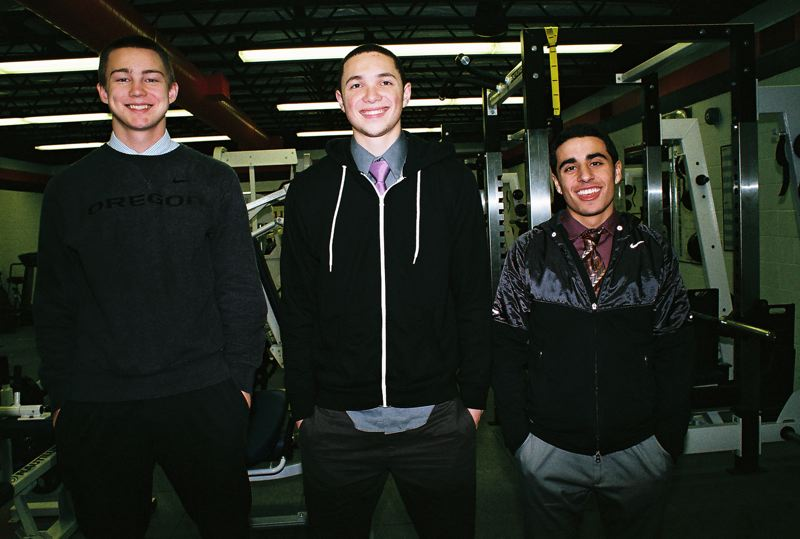 by: JOHN DENNY - La Salle senior captains (from left) Sean Hays, Jacob McGraw and Alex Soberanis have high expectations for the 2012-13 boys basketball season.