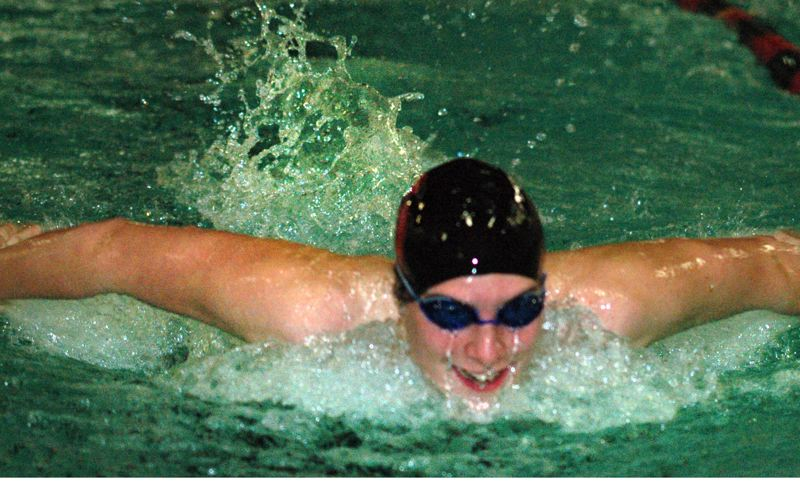 by: SANDY POST: PARKER LEE - Sandys Nick Chaney picked up wins in the butterfly and breaststroke during Wednesdays loss to Sherwood.