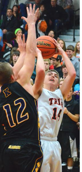 by: JOHN BREWINGTON - Scappoose's Taylor Loss takes a shot during last week's game with Kelso.