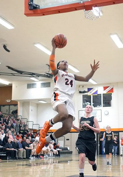 by: MILES VANCE - SOARING SENIOR - Beaverton senior guard Alexis Montgomery hopes for more high-flying success in 2012-13, where her team is one of the favorites in the Metro League race.