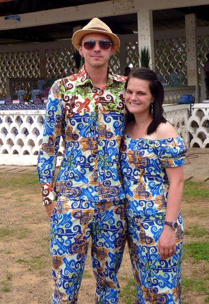 A colorful couple, Shaun and Mollie Willis were with Portland's Mercy Corps before working in Cameroon as part of the Peace Corps.