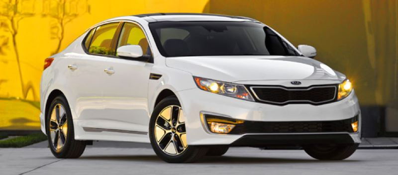 by: KIA NORTH AMERICA - The Optima has the sharpest looking hybrid on the market.