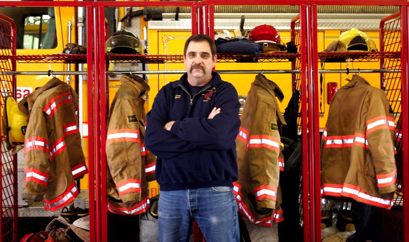 by: OUTLOOK PHOTO: JIM CLARK - Tom Layton was born and raised in Corbett and is the third generation in his family to serve on the Corbett volunteer fire department.