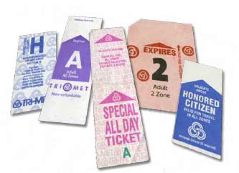 by: COURTESY OF TRIMET - Remember these old tickets? Better exchange them by 5:30 p.m. Monday, Dec. 31, or they'll only be good for your scrapbook.