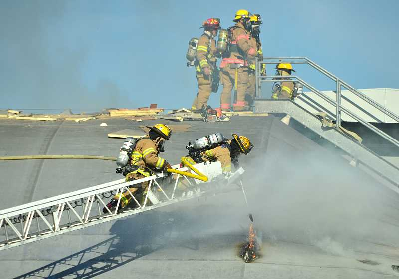 On Oct. 8. firefighters responded to a three-alarm fire at West Linn High School.