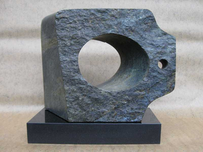 by: SUBMITTED PHOTO - Dave Haslett's stone sculptures are on display at 510 Museum and Artspace.